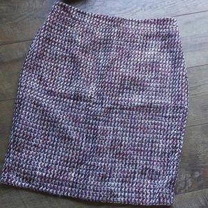 Loft Multi Color  Skirt size 2